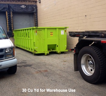 30 Cu Yd Warehouse Job Roll off container rental service - Hudacko Waste Industries